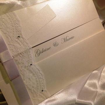Convite de Casamento com Renda 1