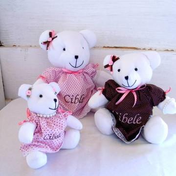 Kit decoração Rosa e Marrom Com Nome
