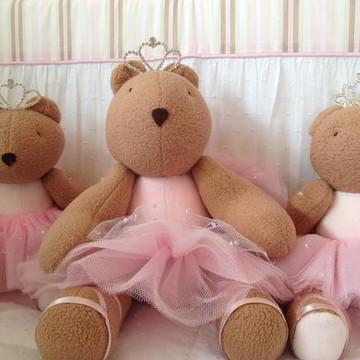(Bi 0080a) Ursa princesa pelúcia