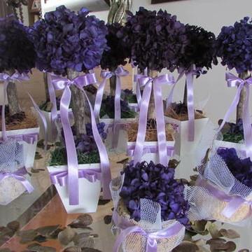 Kit topiaras & cumbucas hortencia roxa I