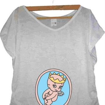 T-shirt Princesa na Barriga