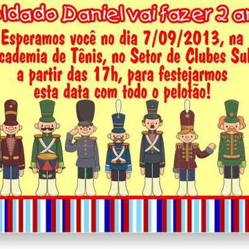 Soldadinhos Chumbo Convite Aniversário
