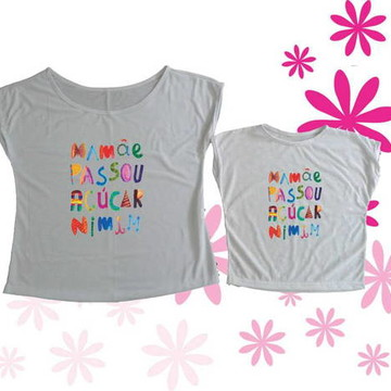T-shirt Mamãe Passou Açúcar Nimim