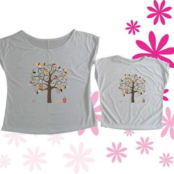 T-shirt Tal Mãe, Tal Filha (o) Corujinha