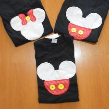 Camiseta Mickey e Minnie (Personalizada)