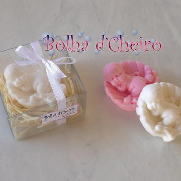 50 Caixinhas c/ Sabonete Bebê na Concha