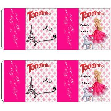 Rótulo para Todynho Barbie Moda e Magia