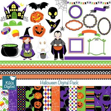 Kit Digital Halloween