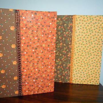 Caderno encapado em tecido