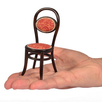 Cadeira Thonet estofada - Miniatura