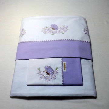 Lençol De Berço Borboletinha (lilás)
