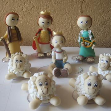 enfeites de mesa rei davi e ovelhinhas