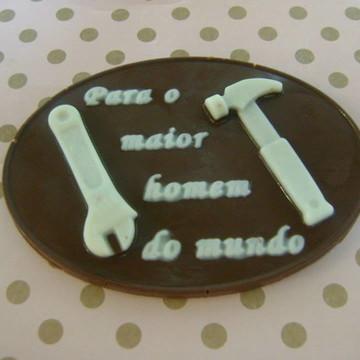 Placa de mensagem de Chocolate