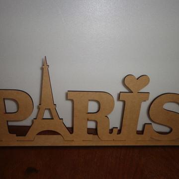 Palavra Paris em mdf