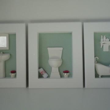Quadros para Lavabo ou Banheiro
