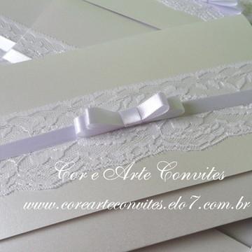 Convite de Casamento Renda - Isabella