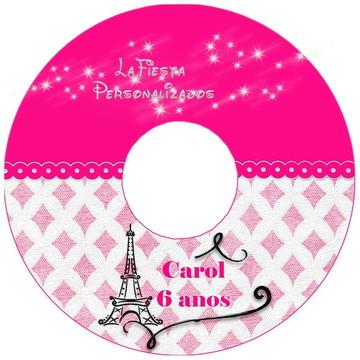 Etiqueta para CD Barbie Moda e Magia