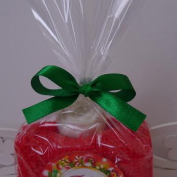 Lembrancinha Natal Toalhinha de Mão + Mini Sabonetinho