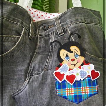 bolsas feitas com calças jeans