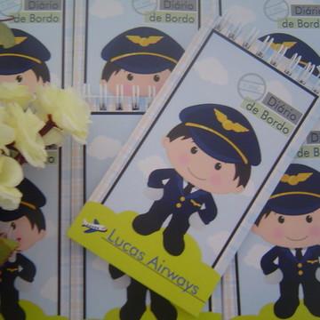 Lembrança de aniversario piloto de avião