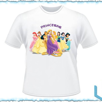 Camiseta Personalizada Princesa Disney 1