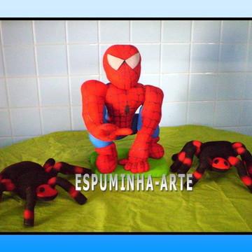 kit homem aranha + com 2 aranhas