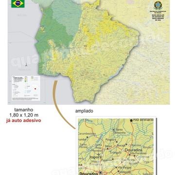 ADESIVO MAPAS DO BRASIL MOD.01 ESTADO MS