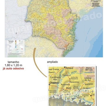 MAPAS DO BRASIL MOD.06 ESTADO PR/SC
