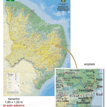 ADESIVO MAPAS DO BRASIL MOD.16 ESTADOS