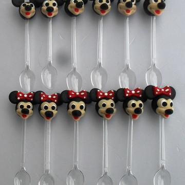 Mini colheres Minie e Mickey