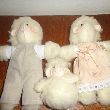 família de Ovelhas para decoração