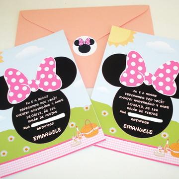 """Convite """"Minnie"""""""