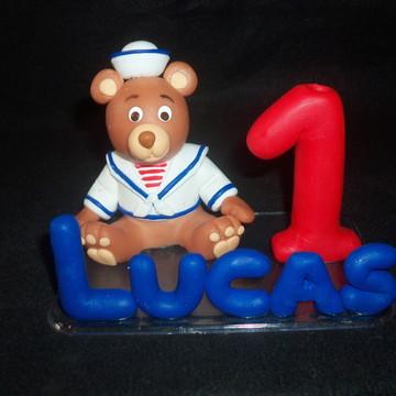 Topo de bolo urso marinheiro