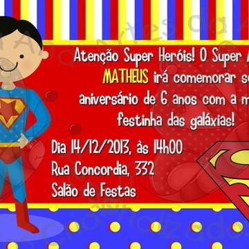 Convite Super Menino
