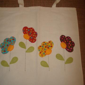 Ecobag 40x50 cm - quatro flores