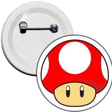 Boton Super Cogumelo Super Mario