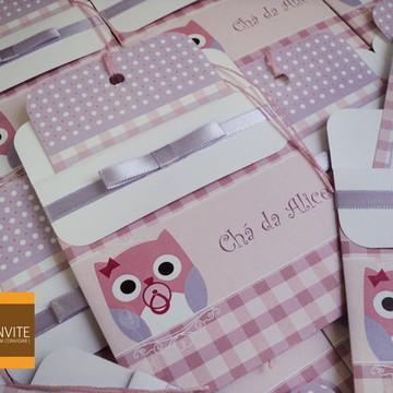 Convite Para Chá De Bebê Coruja