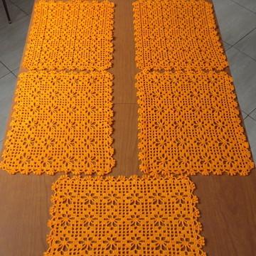 Jogo americano de crochê com 6 peças