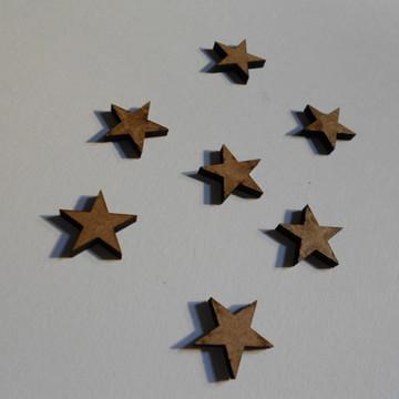 50 recortes de estrela em mdf