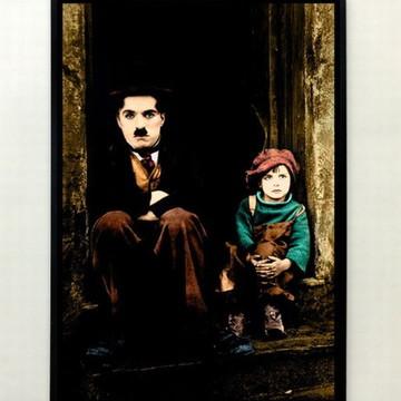 Quadro Charles Chaplin O Garoto (colorido)