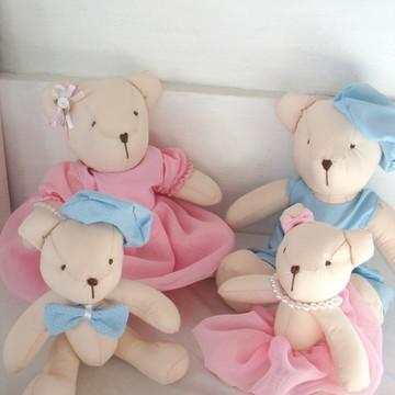 Kit Ursos Decoração Para Casal De Gemêos