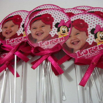 Toppers Cupcakes Personalizados Minie