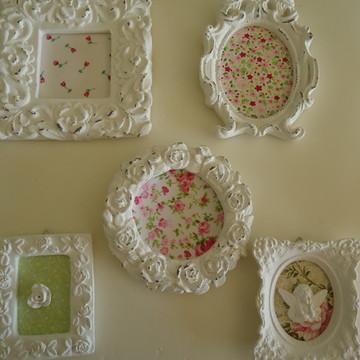 kit de molduras provençais com tecido
