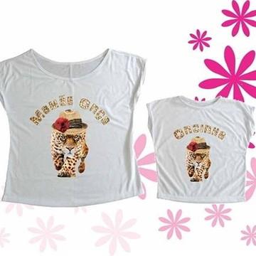 T-shirt Mamãe Onça, Oncinha