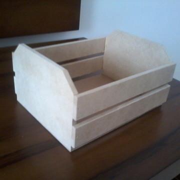 Mini caixote em MDF cru