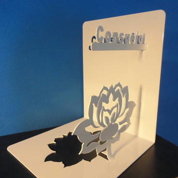 Bibliocanto Flor de Lótus Personalizada Aço