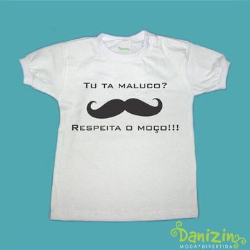 T-Shirt Bebê e Infantil BIGODE GROSSO