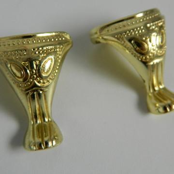 Pé Para Caixa Pata Egípcia Ouro