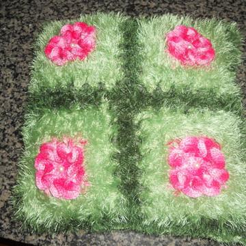 capa de almofada flor camélia