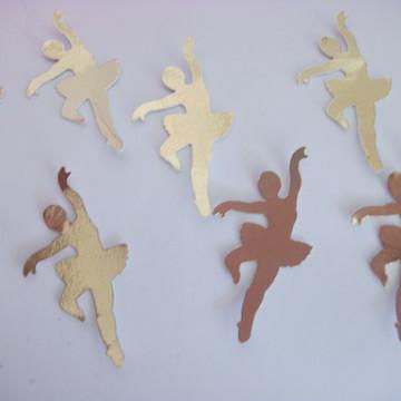 100 Bailarinas douradas decoração festa